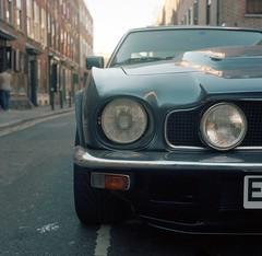 Aston Martin V8 Vantage (universal76) Tags: new london car minolta 400 portra 000 spitalfields maserati autocord astonmartinv8vantage