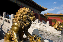 Lions at Gate of Heavenly Purity (Schwarzerstein) Tags: china beijing palace   forbiddencity   gateofheavenlypurity