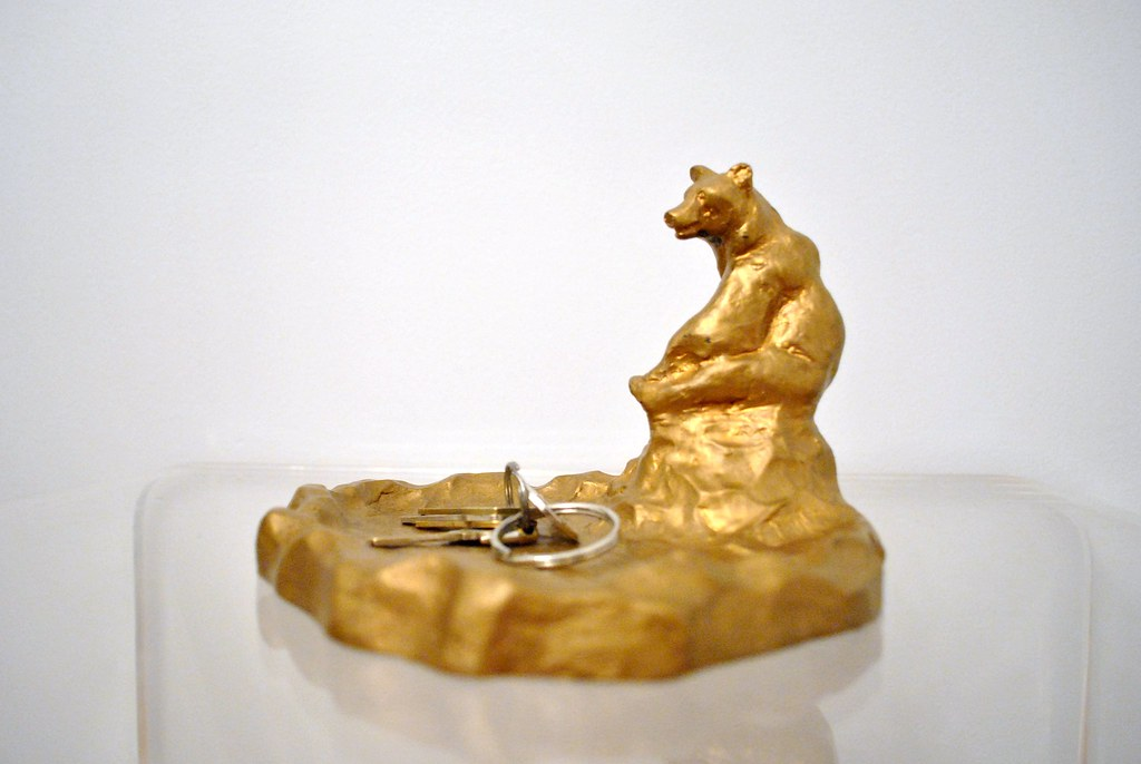 Gold Bear Key Tray
