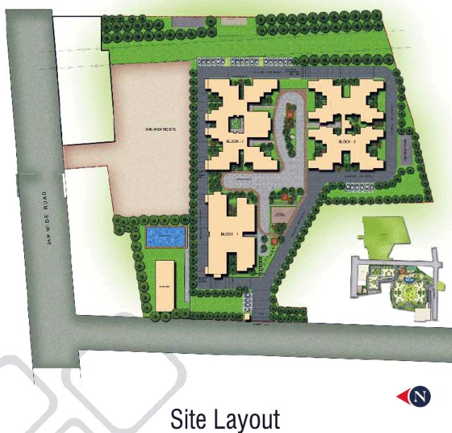Layout Plan of Sobha Garnet 3 BHK & 4 BHK Flats at Kondhwa Pune
