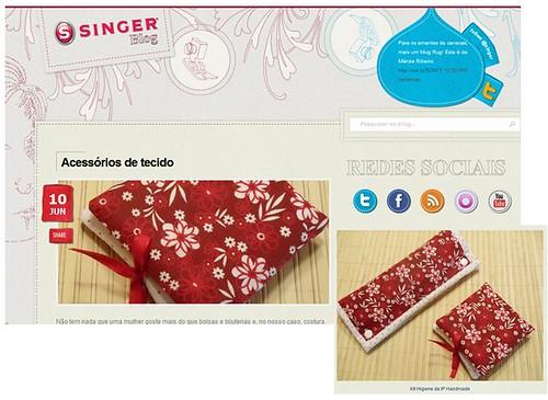 Carinho da Equipe da SINGER, muito obrigada! by IP Handmade