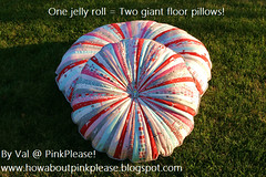 Giant Floor Pillows Tutorial (PinkPlease!) Tags: jellyroll sherbetpips floorpillows aneelahoey