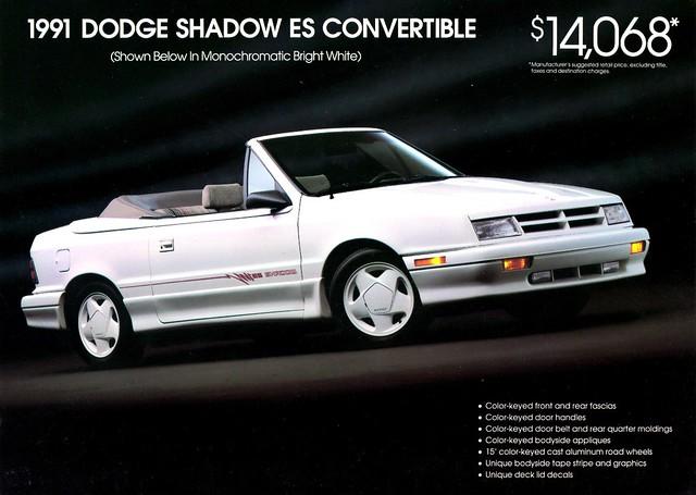 shadow convertible dodge 1991 es brochure