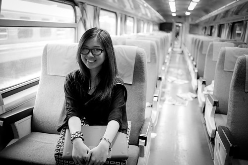 Gwendolyn on train