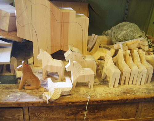 Dala Horses in the making