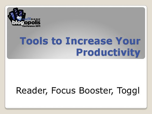 Blogging Tools - Productivity