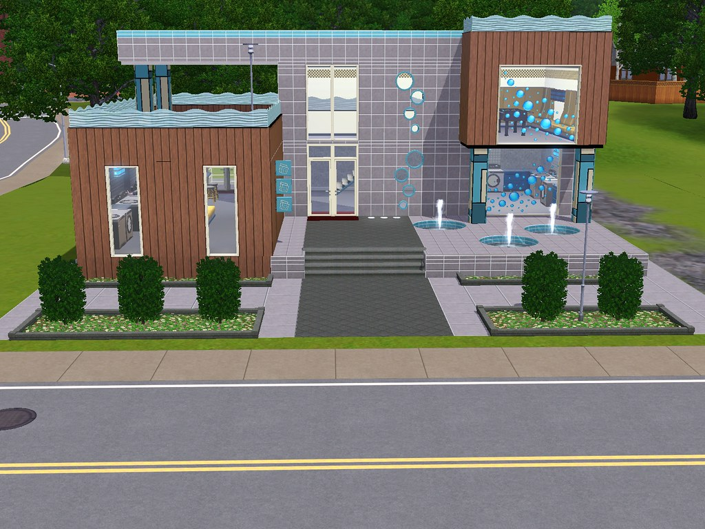 Sims 3 Town Life Stuff Pack Outside of Laundromat