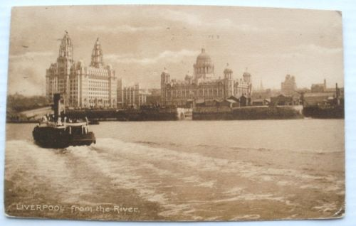 Liverpool ferry postcard posted 1916
