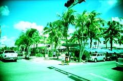 Clevelander Hotel South Beach (Phillip Pessar) Tags: kodak 200 expired elite chrome slide xpro cross processing vivitar ultra wide and slim toy camera florida c41 sobe miami beach south art deco building architecture 1939 albert anis