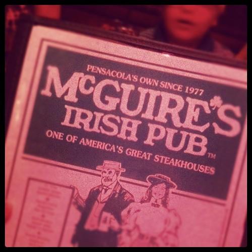 mcguires menu