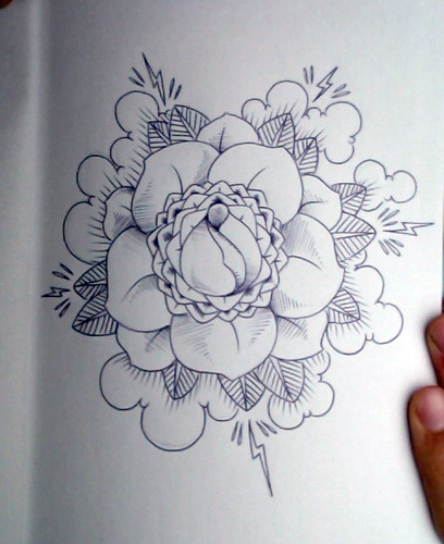 old school tattoo rose sketch Tattoos Gallery