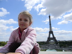 Ida in Paris, 24 July 2011 (etnaboris) Tags: family sky paris france love clouds famiglia eiffeltower daughter ciel amour cielo toureiffel torreeiffel nuages ida francia amore parigi nubi 2011 figlia