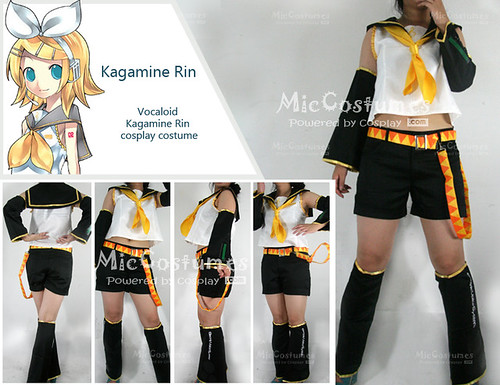 Vocaloid Rin cosplay costume