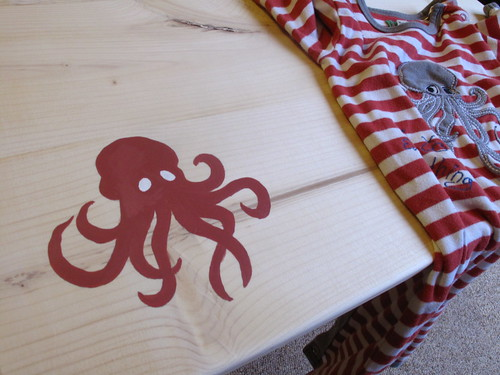 Colors painted for octopus