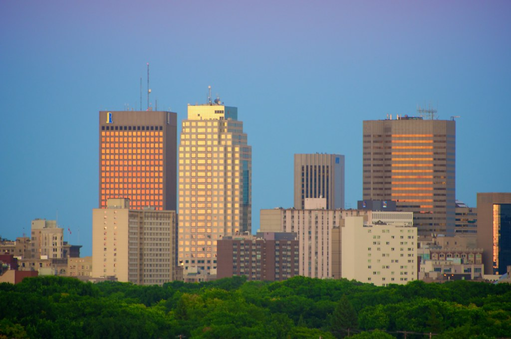 Downtown Winnipeg at Dusk