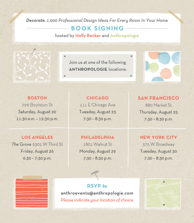Big News: Decorate Book Tour Details!