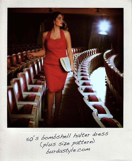 Burda Style plus size 50s halter dress pattern.jpg_effected-004 copy