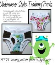 Underwear Style Training Pants PDF Pattern