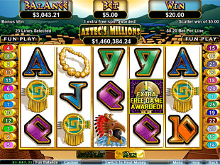 Aztec's Millions Free Spins