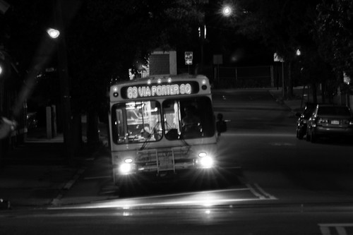 MBTA Bus in the Night