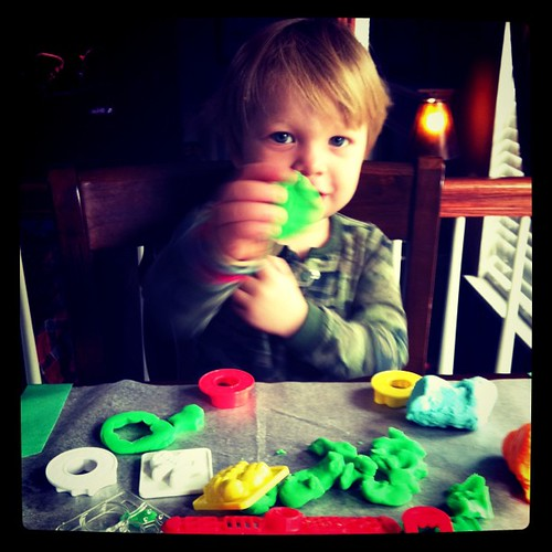 Sunday: playdoh fun