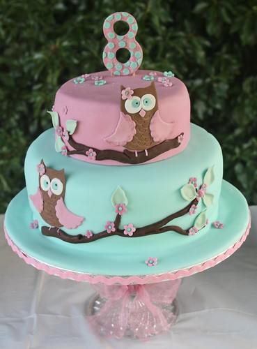 Owl cake for Tilly's 8th Birthday......