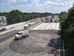 Medford, 93 Fast 14,12 of 14 Bridge Replacements Complete, July 31, 2011 (MassDOT) Tags: bridge work concrete abc innovation 93 medford streetsweeper i93 precast pbu abp pmse intertstate masshighway fast14 massdot acceleratedbridgeprogram 93fast14