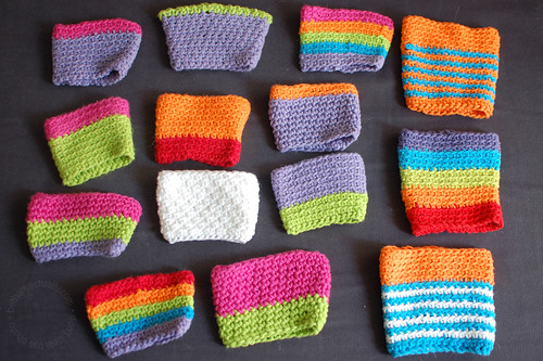 Would you say I crocheted a PLETHORA of cup sleeves?