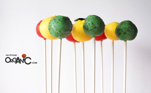 Colorful Ghana/African themed Cake Pops