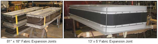 Expansion Joints Fabricated with PTFE Impregnated Fiberglass Material