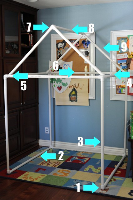 PVC Fort and/or Playhouse Instructions