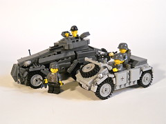 Sd.Kfz. 231 (ricks-to-use) Tags: car germany tank lego wwii ww2 armored 222 panzer 231 sdkfz mg42 mp40 panzersphwagen