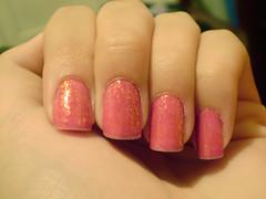 Salsa + chachacha HITS (fersoares.) Tags: pink nail rosa hits unha flocado