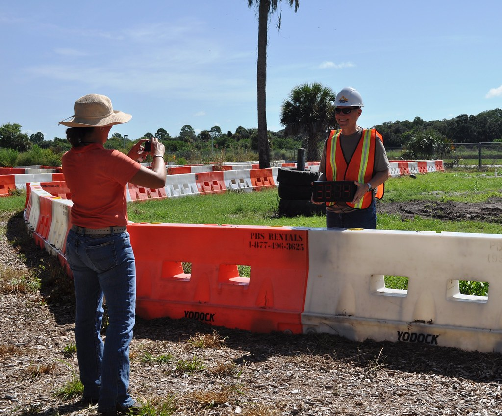 Heavy Equipment Obstacle Course Complete, People at Play, Bradenton, Fla.