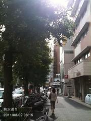 朝散歩(2011/8/2 8:10-8:20): 駒沢通り