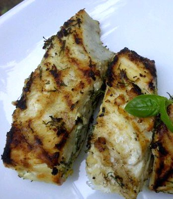 Grilled Lemon Dill Halibut by Lyndsay Wells