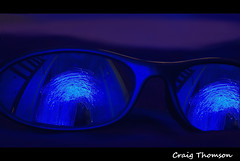 Electric Reflections in Blue (Strathaven , South Lanarkshire) (Zen Moments Photography) Tags: travel blue light reflection sunglasses electric speed painting star scotland energy ship hole time south scottish shades scifi wormhole fi worm universe sci quantum starship lanarkshire strathaven
