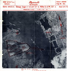 'Tanklager' Map (Photo) (Plymouth History) Tags: cornwall map aircraft nazi plymouth aerial devon photograph german target bomb blitz bombing reich devonport secondworldwar stonehouse luftwaffe plymstock saltash torpoint