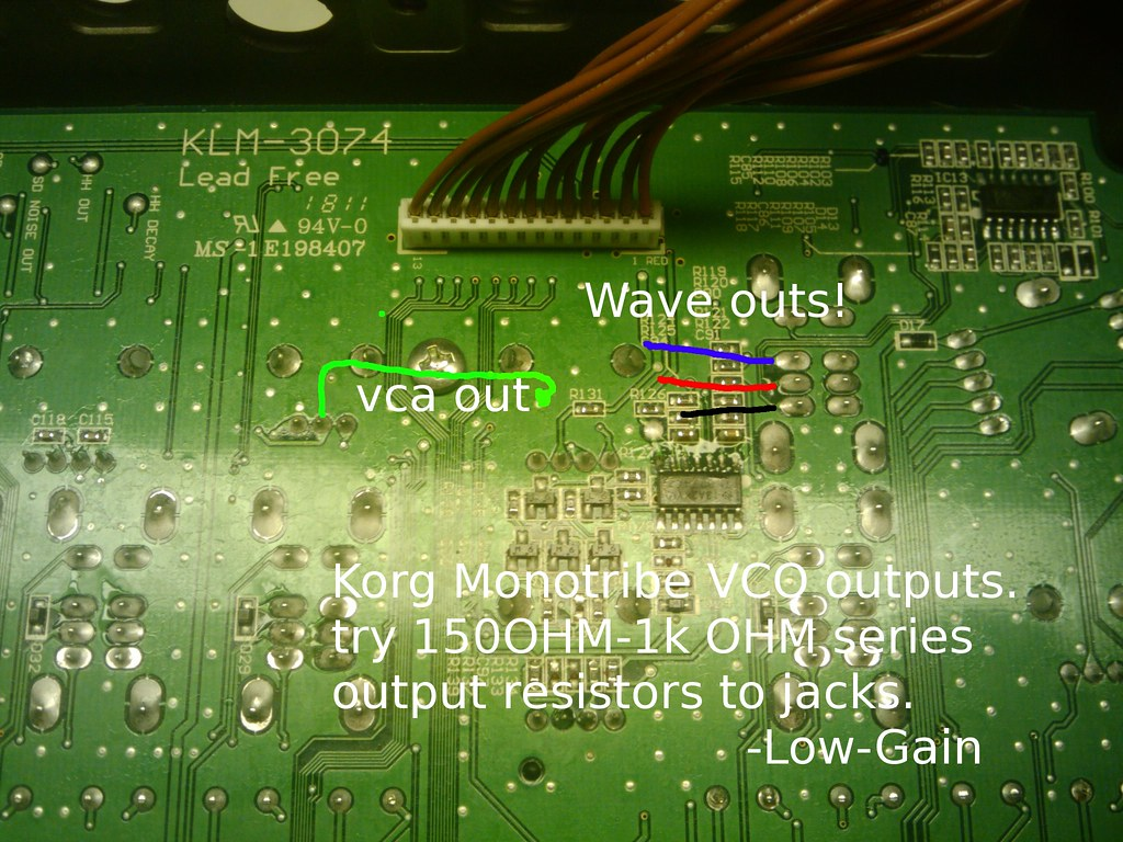 Muff Wiggler View Topic Korg Monotribe Modifications Thread Gives Mindf Movies A New Meaning Hacks Mods Circuitry Where The Vco Wave Selector Points Are I Borrowed Picture From An Earlier Post Uploaded By Low Gain Which Should Help Hope He Doesnt Mind