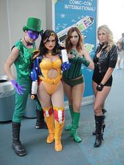 San Diego Comic-Con 2011 - Riddler, Wonder Woman, Poison Ivy, Black Canary (Doug Kline) Tags: dc costume comic sandiego cosplay wonderwoman convention comiccon riddler poisonivy blackcanary sdcc 2011
