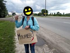 Hichhiking with vodka in Ukraine
