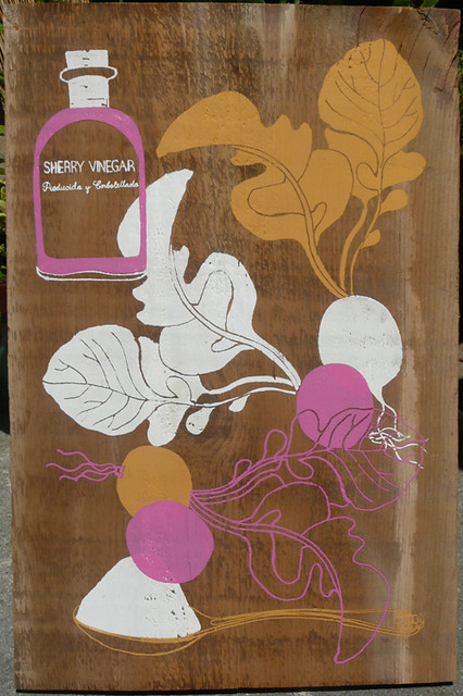 Radish recipe On Wood