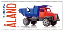 Dump truck stamp (postcardwish) Tags: truck europa dump stamp aland