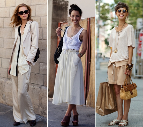 GET THE LOOK street style white nudes