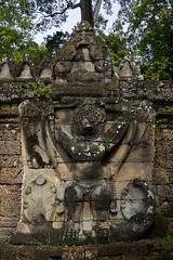 Preah Khan (Sacred Sword) (Keith Kelly) Tags: stone religious temple ancient sandstone asia cambodia southeastasia buddhist ruin kingdom holy sacred kh siemreap angkor garuda preahkhan laterite kampuchea jayavarmanvii bayonstyle sacredsword late12thcentury