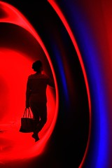 Luminarium (A1yson) Tags: blue red colour bright sheffield vivid luminarium flickrchallengegroup flickrchallengewinner