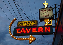 South Tacoma Tavern () Tags: old city urban usa classic chicken sign bar dinner america way lunch photo washington highway neon place cross state pacific northwest image district south united picture hans gritty historic neighborhood photograph 99 tavern sound processing local tacoma states roadside popular puget doof hanss