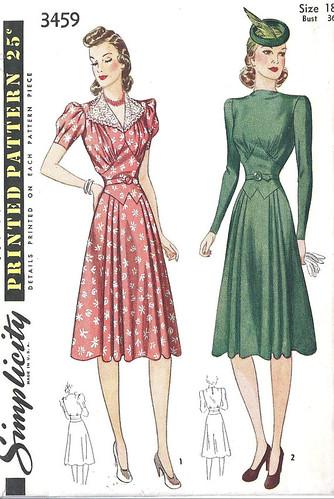 1940s Dress Pattern (Simplicity 1940)