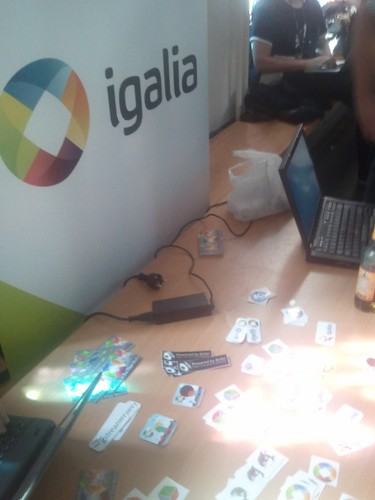 Igalia's booth at Desktop Summit 2011