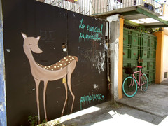 Lo escencial es invisible (**vera**) Tags: streetart art primavera bike graffiti quito vera lafloresta venadito